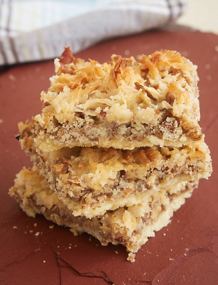 You only need 5 ingredients to make these sweet, nutty, chewy, gooey, delicious Coconut Pecan Shortbread Squares. - Bake or Break