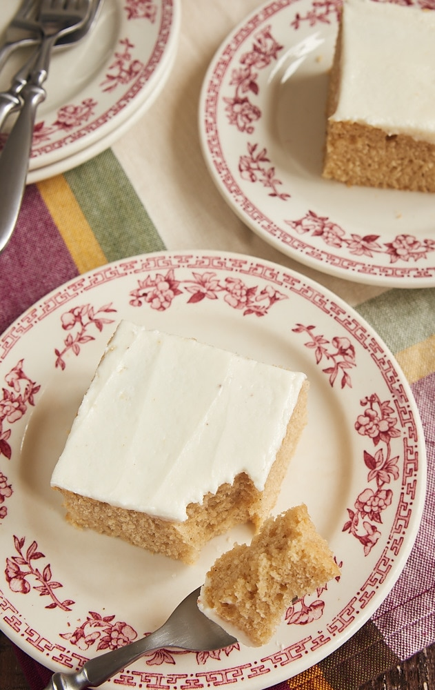 A wonderful blend of spices and a sweet, rich frosting make this Spice Cake with Brown Butter Frosting absolutely irresistible! - Bake or Break