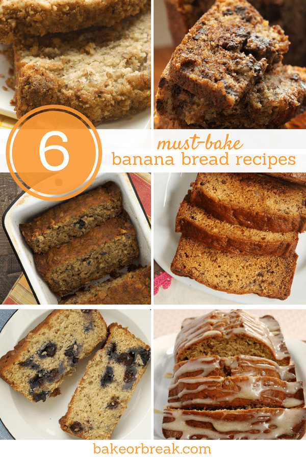 Not much beats homemade banana bread! Each of these 6 banana bread recipes offer a tasty twist on the classic favorite. - Bake or Break
