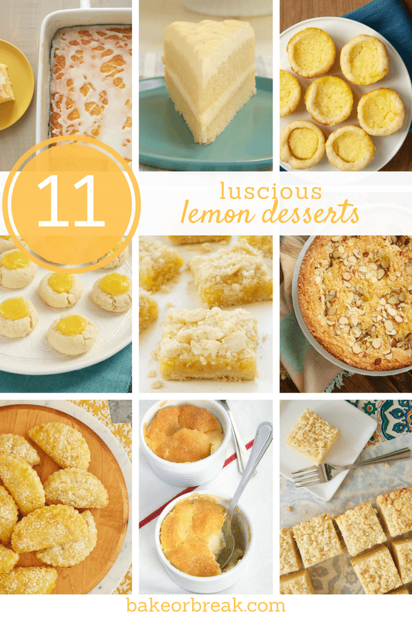 11 Luscious Lemon Desserts | Bake or Break