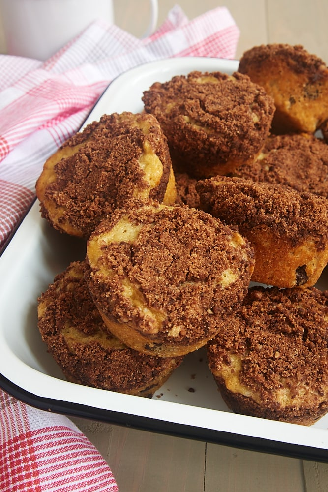 Oatmeal Chocolate Chip Muffins with Chocolate Streusel