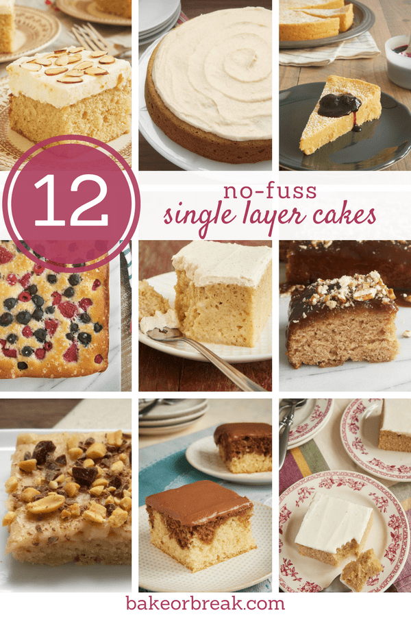 A collection of simple single layer cakes