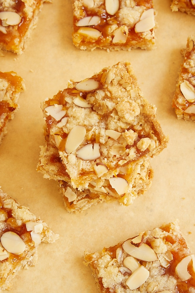 stack of Apricot Almond Oat Bars