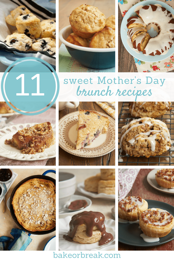 collection of sweet baking recipes for Mother's Day brunch