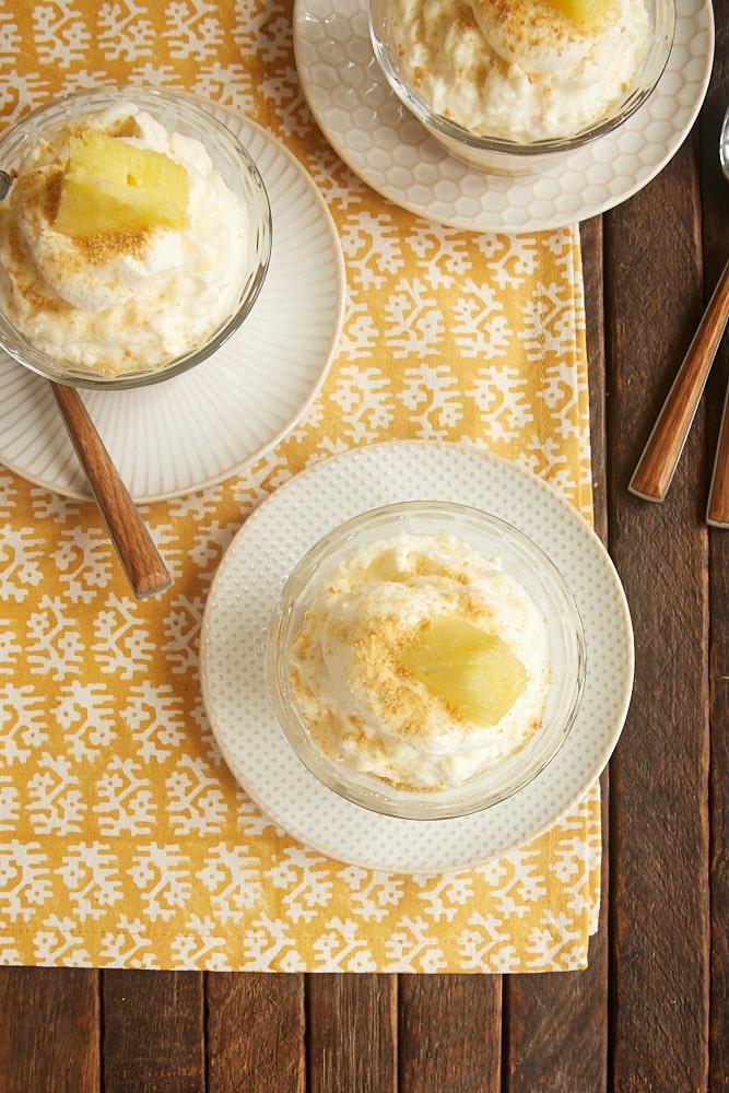 No-Bake Pineapple Cheesecakes recipe from Bake or Break